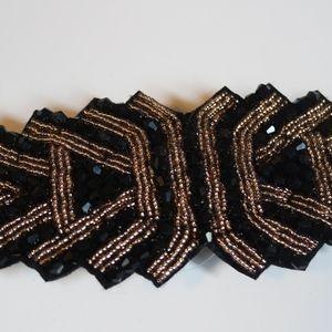 Accessories - 3/$15 -- Black Gold Waist Cinching Statement Belt